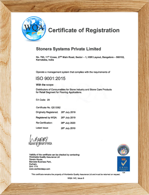 WQA_Certification_Stonera_systems_Bangalore